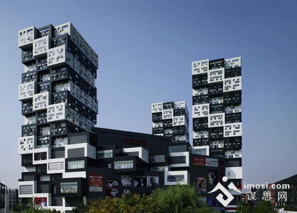 北京bumps大楼:黑白盒子奇妙建筑